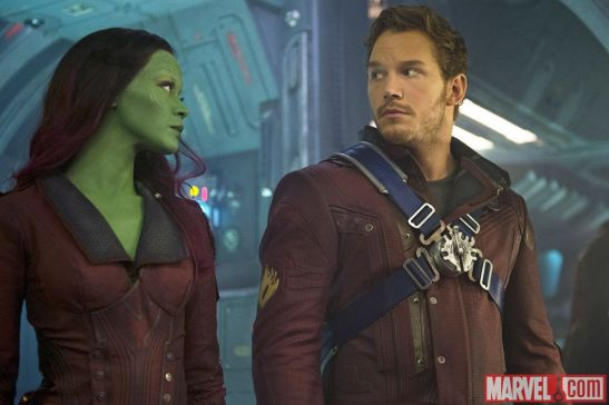 Guardians of the Galaxy_Zoe Saldana_Chris Pratt