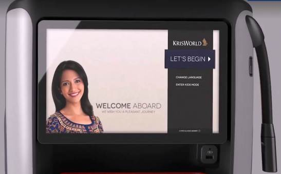 Singapore Airlines PEY screen